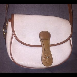 Braciano Leather Trimmed White Crossbody Bag